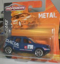 MAJORETTE RACING CARS METAL MINIATURES DACIA DUSTER SPORT RALLY ECHELLE 1:64 OVP