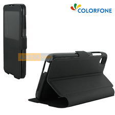 FUNDA Folio BOOK con ventana Soporte Negro para ALCATEL One Touch IDOL 3 (4.7)