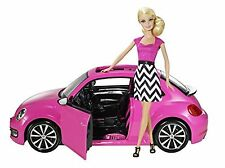 NEW Barbie Volkswagen Beetle Car and Doll Playset FREE SHIPPING