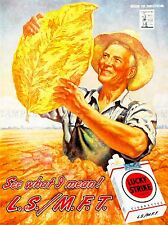 ADVERT CIGARETTES SMOKING TOBACCO LEAF CROP FARMER USA ART POSTER PRINT LV095