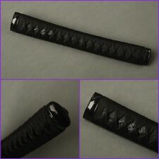 Samurai Japanese katana Sword Fittings  REAL RAYSKIN black tsuka handle