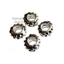 15 Intercalaires spacer argenté 7x7x3.5mm Perles apprêts création bijoux _ A375