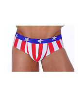 speedo swim suits Men's Euro style  Flag print swim shorts USA Flag,