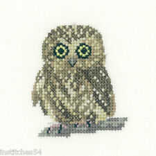 Heritage Crafts Little Friends Cross Stitch Kit  Owl
