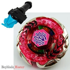Fusion METAL Beyblade BB-100 Evil Befall/Killer Beafowl+BLUE LAUNCHER+GRIP