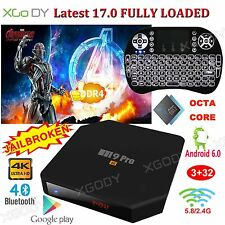 XGODY 3+32G Smart TV BOX Octa Core Android 6.0 17.0 Fully Loaded HDMI 2.0 wifi