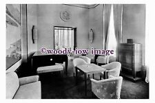 pu0936 - French CGT Liner - Normandie , built 1935 - interior photograph