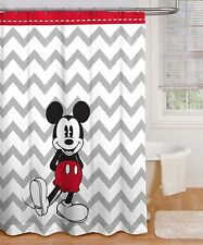 "NEW Disney Mickey Mouse Clubhouse Bath Shower Curtain Chevron Red White 72""x72"""