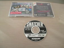 SNATCHER PILOT DISK KONAMI HIDEO KOJIMA PC ENGINE SUPER CD JAPAN IMPORT!