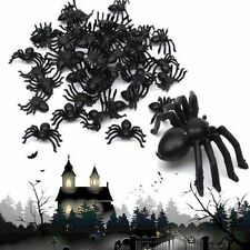 Gifts House Haunted Joking 100X Plastic Trick Toy Halloween Black Spider