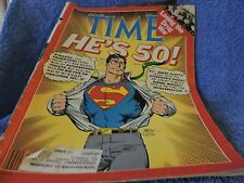 March 14, 1998 TIME Magazine~ SUPERMAN he's 50! John Byrne cover