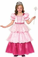 Girls Deluxe Pink Sugar Princess Costume Pink Tea Party Dress Size Large 12-14