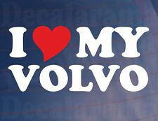 I LOVE/HEART MY VOLVO Novelty Car/Truck/Window/Bumper Vinyl Sticker/Decal