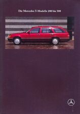 Mercedes-Benz W124 Estate sales brochure Oct 1989 German market