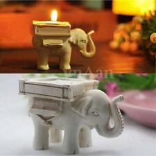 Bougeoir Chandelier Chandelle Bougie Résine En Forme d'Eléphant Mariage Cadeau