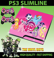 Playstation 3 slim ps3 slim MON PETIT PONEY RAINBOW Autocollant peau & 2 pad skins