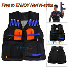 Adjustable Vest Jacket for Nerf N-Strike Elite Team with Storage Pockets Black