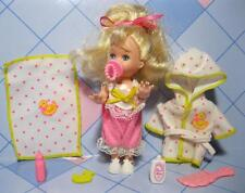 barbie KELLY DOLL 1995 Bathtime Bath Tub Fun Clothes Duck Robe Blanket-matching