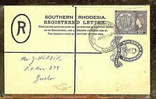 SOUTHERN RHODESIA (P1210B) KGVI 4D RLE+QEII 6D REG TO GWELO