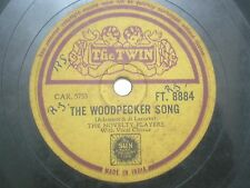 """THE NOVELTY PLAYERS FT 8884 INDIA INDIAN RARE 78 RPM RECORD 10"""" YELLOW VG+"""