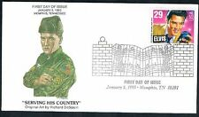 1993 Elvis Presley 29c FDC Sc2721 Serving His Country  Memphis Collectibles