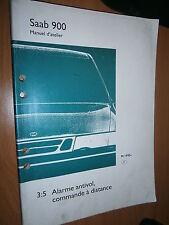 Saab 900 : manuel atelier partie 3:5 Alarme antivol commande à distance 1995...