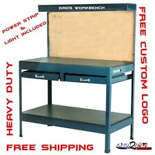 Garage Work Bench Table Reloading Machine Shop similar Gladiator Hobby Steel New