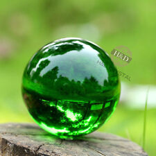 Rare Natural Quartz Green Magic Glass Crystal Healing Ball Sphere 40mm + Stand ~