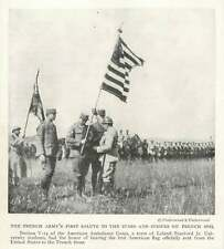 1917 First American Flag Sent To The French Front American Ambulance Corps