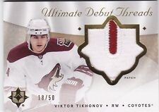 Upper Deck Ultimate Collection 2008 09 Debut Threads Patches Viktor Tikhonov