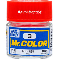 MR HOBBY Color Lacquer C3 Red Model Kit Paint 10ml