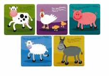 15 Barn Yard Farm Animals Sticker Kids Party Goody Loot Bag Filler Favor Supply