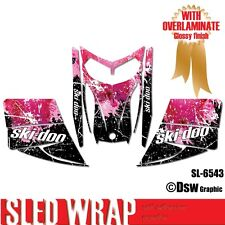 SLED WRAP DECAL STICKER GRAPHICS KIT FOR SKI-DOO REV MXZ SNOWMOBILE 03-07 SL6543