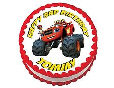 BLAZE AND THE MONSTER MACHINES cake and cupcake edible toppers frosting sheet