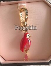 BRAND NEW! JUICY COUTURE RED GEM PARROT BRACELET CHARM IN TAGGED BOX