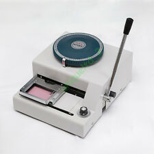 68-Character PVC Card Embosser Embossing Machine Stamping Credit ID VIP Card