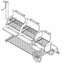 "BBQ Plans - Smoker/Pit & Grill Plans Blueprints - Model SP-1302 (20"" x 64"")"