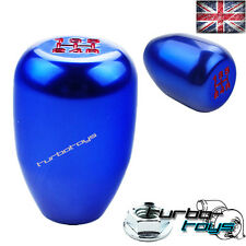 BLUE 5 SPEED BILLET ALUMINIUM GEAR KNOB Fits HONDA CIVIC INTEGRA CRX  M10x1.5