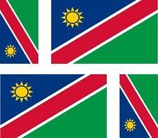 4 x Autocollant sticker voiture moto valise pc portable drapeau namibie namibien
