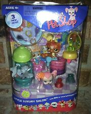 Littlest Pet Shop LITTLE LUXURY SALON 225 226 Terrier 227 Orange Cat 2006 VHTF