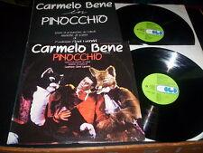 """Carmelo Bene """"Pinocchio (Storia Di Un Burattino Da Collodi)"""" 2 LP CGD ITA 1981"""