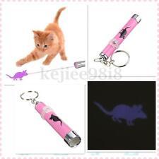 Divertido Cosa LED Puntero Láser Luz Para Mascotas Gato Con Ratón Animación