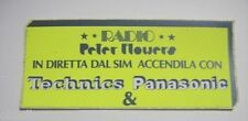 ADESIVO RADIO / Sticker _ RADIO PETER FLOWERS Technics Panasonic (cm 14 x 6)
