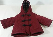 BURBERRY INFANT QUILTED  COAT  RED JACKET Size 3 Months