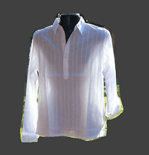 BNWT men,s cotton shirt, 3 Buttons,Beach wear, long sleeve  S