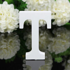 T Wood Wooden Letter White Alphabet Freestanding Art Home Wedding Party Decor 01