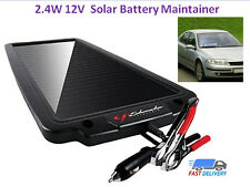 Solar Battery Powered 12 V 2.4W Maintainer Trickle Charger Car Auto Boat Marine