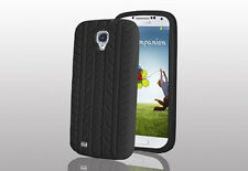 TYRE TREAD COVER FOR SAMSUNG GALAXY S4 i9500 BLACK SILICONE PATTERN GEL CASE