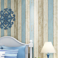 10M Wood Optic Timber Plank Wood Panel Stripe Wallpaper Wall Background Decor