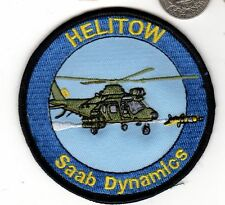 Sweden Saab Dynamics Navy Air Force HELITOW Helicopter Missile Squadron Patch